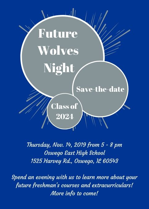 Future Wolves Night is Thursday, November 14th from 5-8 PM!