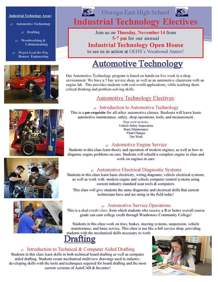 Industrial Tech Open House is Thursday, November 14th from 5-7 PM!