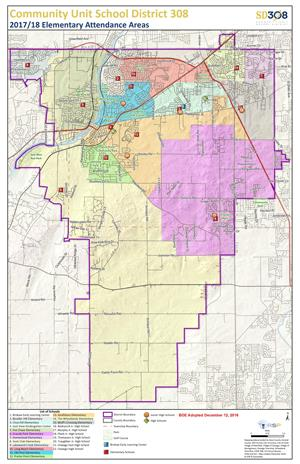 SD308 Elementary School Boundary Map
