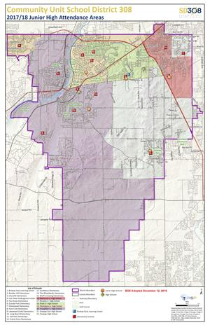 SD308 Junior High Boundary Map