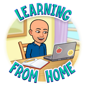 Bitmoji Learning From Home