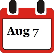 August 7 Calendar page