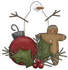 Snowman and ornaments