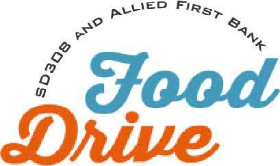 SD308 and Allied First Bank Food Drive