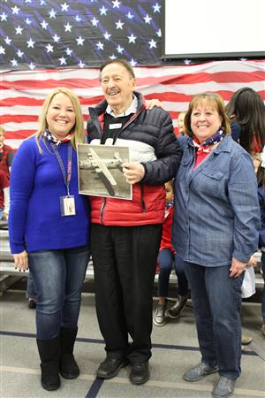 Mr. Howard Levinson, WWII Veteran with two TW 1st Grade teachers.