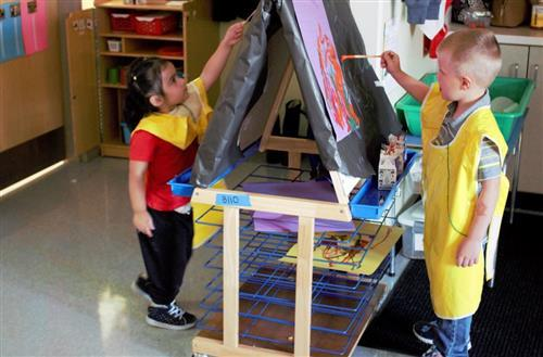 Brokaw students painting