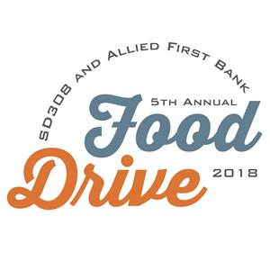 SD308 and Allied First Bank 5th Annual Food Drive 2018