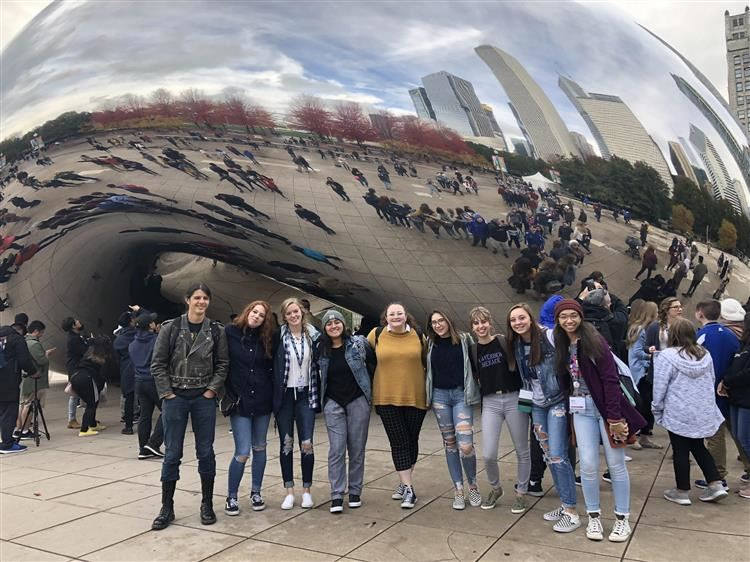 Journalism Students at Bean in Chicago