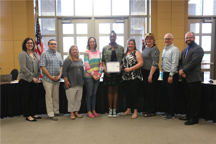 Student recognition at June 17th BOE meeting - Jenelle Rogers