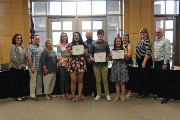 National Hispanic Scholars Recognized at June 17th BOE Meeting