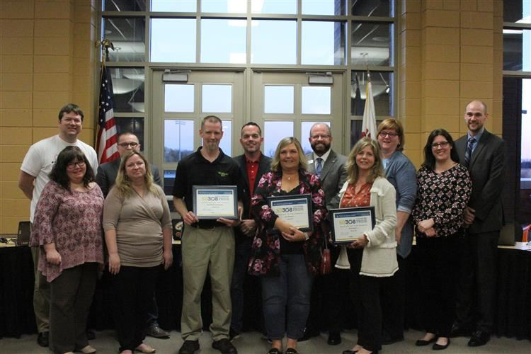 March PRIDE winners at BOE meeting