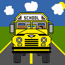 Front end of a school bus