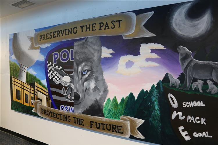 Oswego East High School Mural at OPD