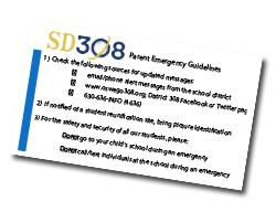 Parent Emergency Guidelines Wallet Card